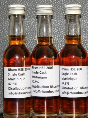 HSE 2003 single cask, Rhum Agricole Ma..