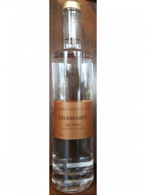 Chamarel White rum,Double Distillation..